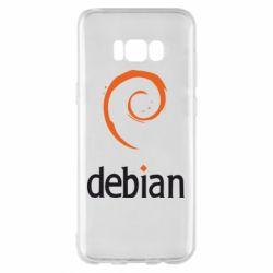 Чехол для Samsung S8+ Debian