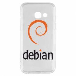 Чехол для Samsung A3 2017 Debian