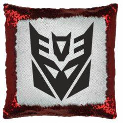Подушка-хамелеон Decepticons logo