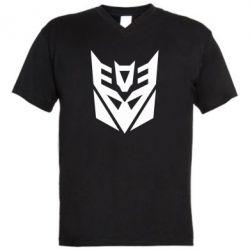 Мужская футболка  с V-образным вырезом Decepticons logo