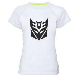 Женская спортивная футболка Decepticons logo