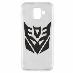 Transformers, Чехол для Samsung A6 2018 Decepticons logo, FatLine  - купить со скидкой