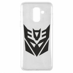Купить Transformers, Чехол для Samsung A6+ 2018 Decepticons logo, FatLine