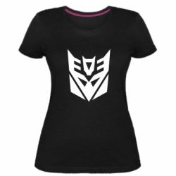 Женская стрейчевая футболка Decepticons logo