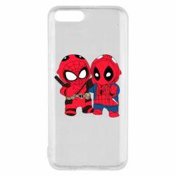 Чехол для Xiaomi Mi6 Дэдпул и Человек паук