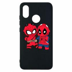 Чехол для Xiaomi Mi8 Дэдпул и Человек паук