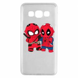 Чехол для Samsung A3 2015 Дэдпул и Человек паук