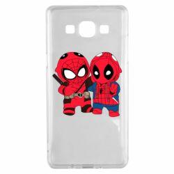 Чехол для Samsung A5 2015 Дэдпул и Человек паук