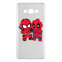 Чехол для Samsung A7 2015 Дэдпул и Человек паук