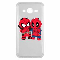 Чехол для Samsung J5 2015 Дэдпул и Человек паук