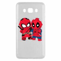 Чехол для Samsung J5 2016 Дэдпул и Человек паук