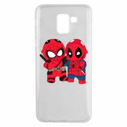 Чехол для Samsung J6 Дэдпул и Человек паук