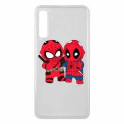 Чехол для Samsung A7 2018 Дэдпул и Человек паук