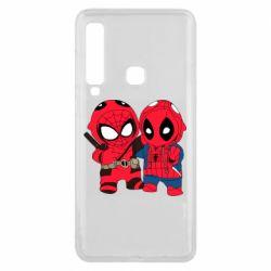 Чехол для Samsung A9 2018 Дэдпул и Человек паук