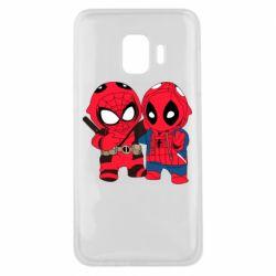 Чехол для Samsung J2 Core Дэдпул и Человек паук