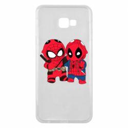 Чехол для Samsung J4 Plus 2018 Дэдпул и Человек паук