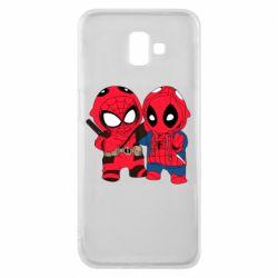 Чехол для Samsung J6 Plus 2018 Дэдпул и Человек паук