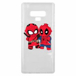 Чехол для Samsung Note 9 Дэдпул и Человек паук