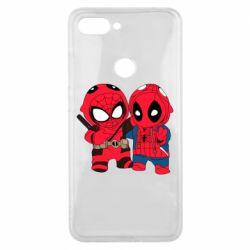 Чехол для Xiaomi Mi8 Lite Дэдпул и Человек паук