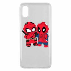Чехол для Xiaomi Mi8 Pro Дэдпул и Человек паук