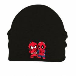 Шапка на флисе Дэдпул и Человек паук