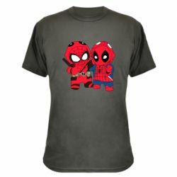 Камуфляжная футболка Дэдпул и Человек паук