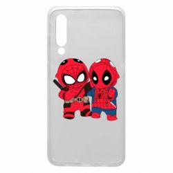 Чехол для Xiaomi Mi9 Дэдпул и Человек паук