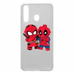 Чехол для Samsung A60 Дэдпул и Человек паук