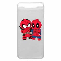 Чехол для Samsung A80 Дэдпул и Человек паук
