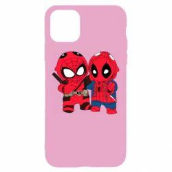 Чехол для iPhone 11 Дэдпул и Человек паук