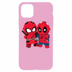 Чехол для iPhone 11 Pro Дэдпул и Человек паук