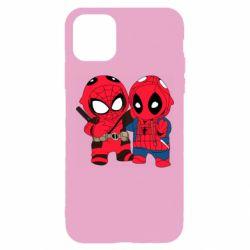 Чехол для iPhone 11 Pro Max Дэдпул и Человек паук