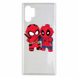 Чехол для Samsung Note 10 Plus Дэдпул и Человек паук