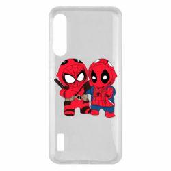 Чохол для Xiaomi Mi A3 Дэдпул и Человек паук
