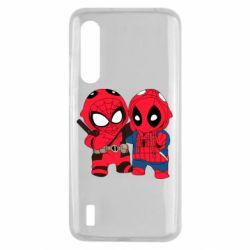 Чехол для Xiaomi Mi9 Lite Дэдпул и Человек паук
