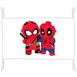 Флаг Дэдпул и Человек паук