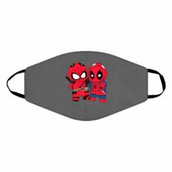 Маска для лица Дэдпул и Человек паук