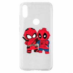 Чехол для Xiaomi Mi Play Дэдпул и Человек паук