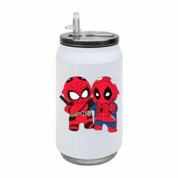 Термобанка 350ml Дэдпул и Человек паук