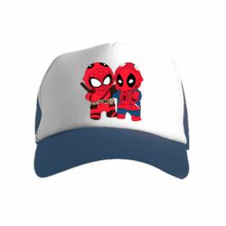 Детская кепка-тракер Дэдпул и Человек паук