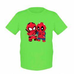 Детская футболка Дэдпул и Человек паук