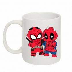 Кружка 320ml Дэдпул и Человек паук