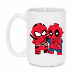 Кружка 420ml Дэдпул и Человек паук