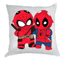 Подушка Дэдпул и Человек паук
