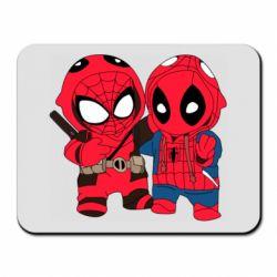 Коврик для мыши Дэдпул и Человек паук