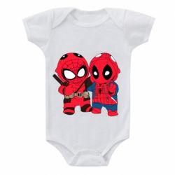 Детский бодик Дэдпул и Человек паук