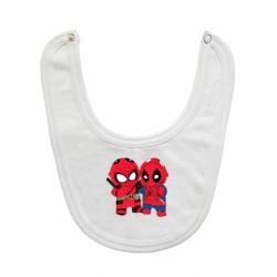 Слюнявчик  Дэдпул и Человек паук
