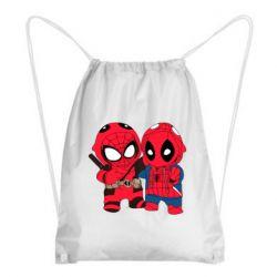 Рюкзак-мешок Дэдпул и Человек паук