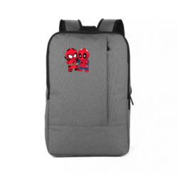 Рюкзак для ноутбука Дэдпул и Человек паук
