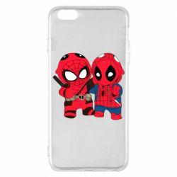 Чехол для iPhone 6 Plus/6S Plus Дэдпул и Человек паук